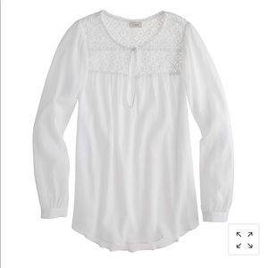 JCREW Embroidered Gauze Top